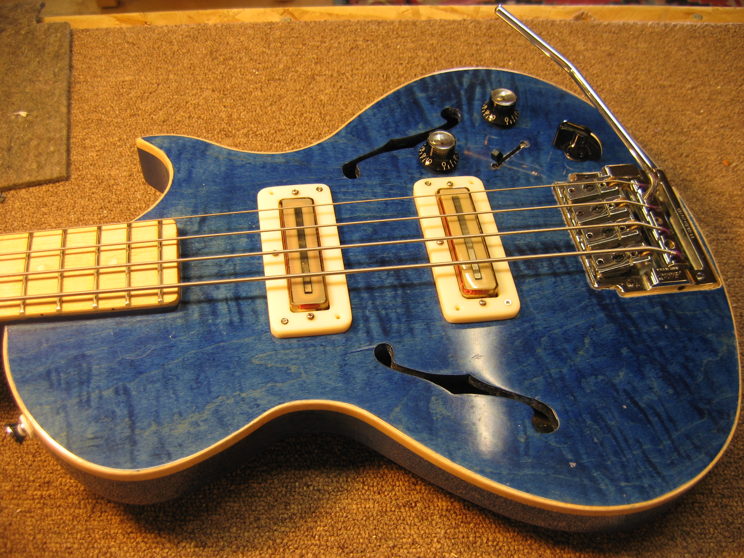 A Blueshawk Bass With Custom Electronics Chicago Fret Works Guild Guitar Wiring Diagram Okay