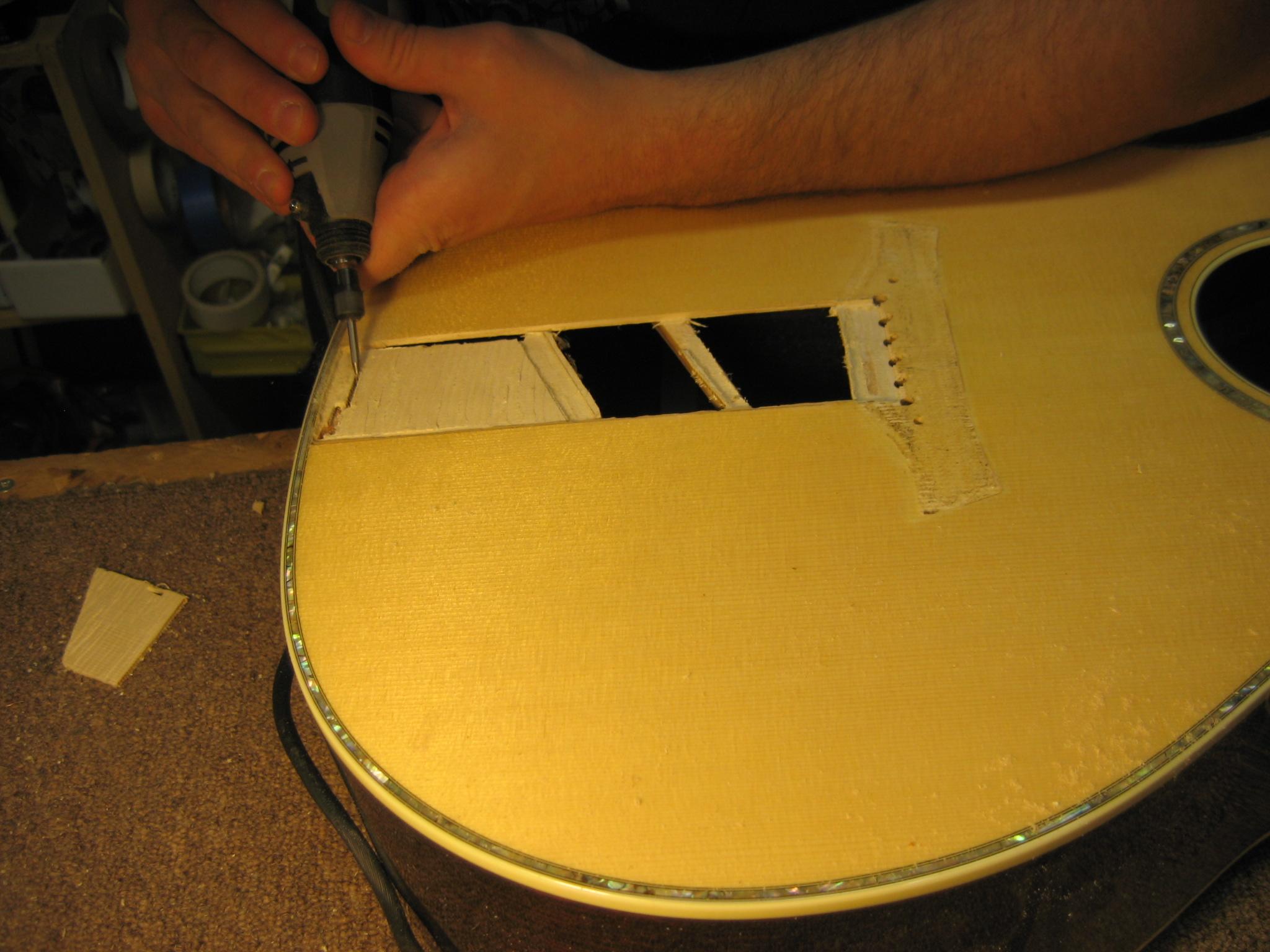Taylor Acoustic Guitar Top Repair Chicago Fret Works Guitar Repair