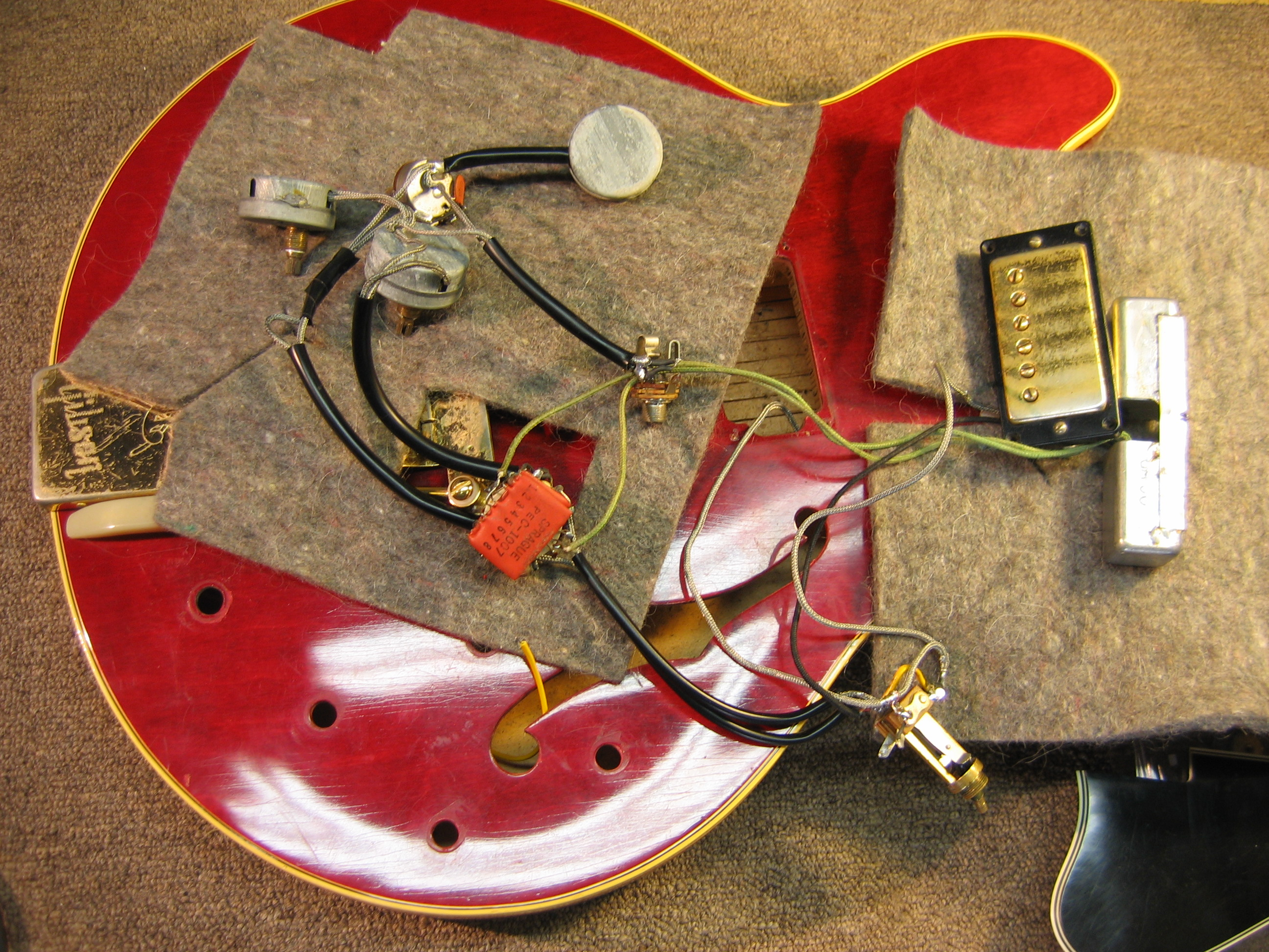 Astonishing Vintage 1965 Gibson Es345 Wiring Repair Chicago Fret Works Wiring Database Aboleterrageneticorg