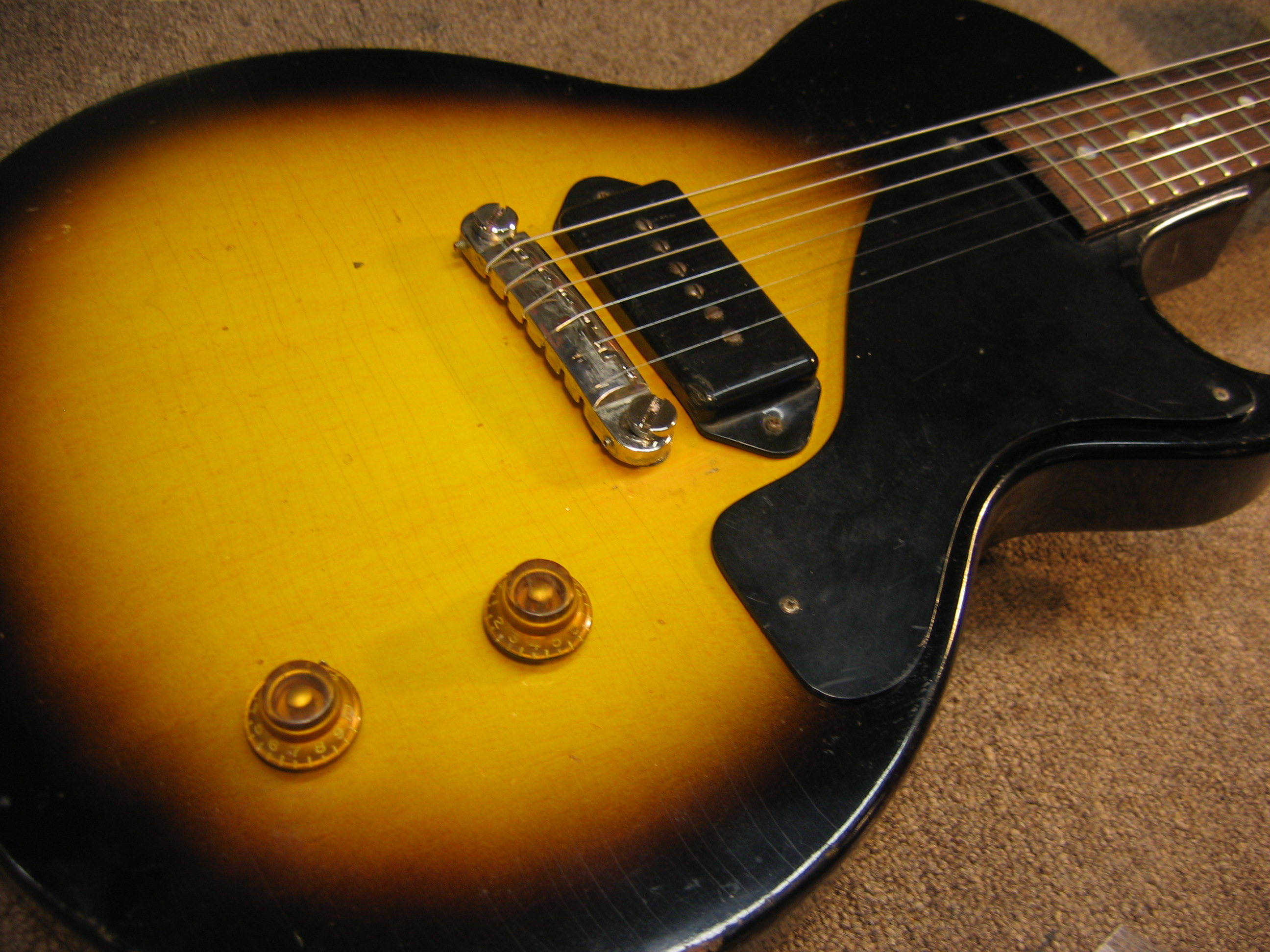 Vintage Gibson Les Paul Junior Headstock Rebuild   Chicago