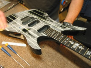 Autographed Schecter Synyster Custom