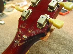 Vintage Gibson Les Paul Headstock Repair
