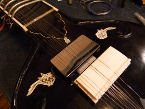 National Slimline Pickup Installed In An Electric Sitar