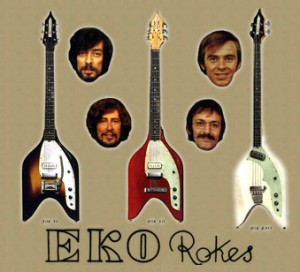The Rokes and their EKO guitars