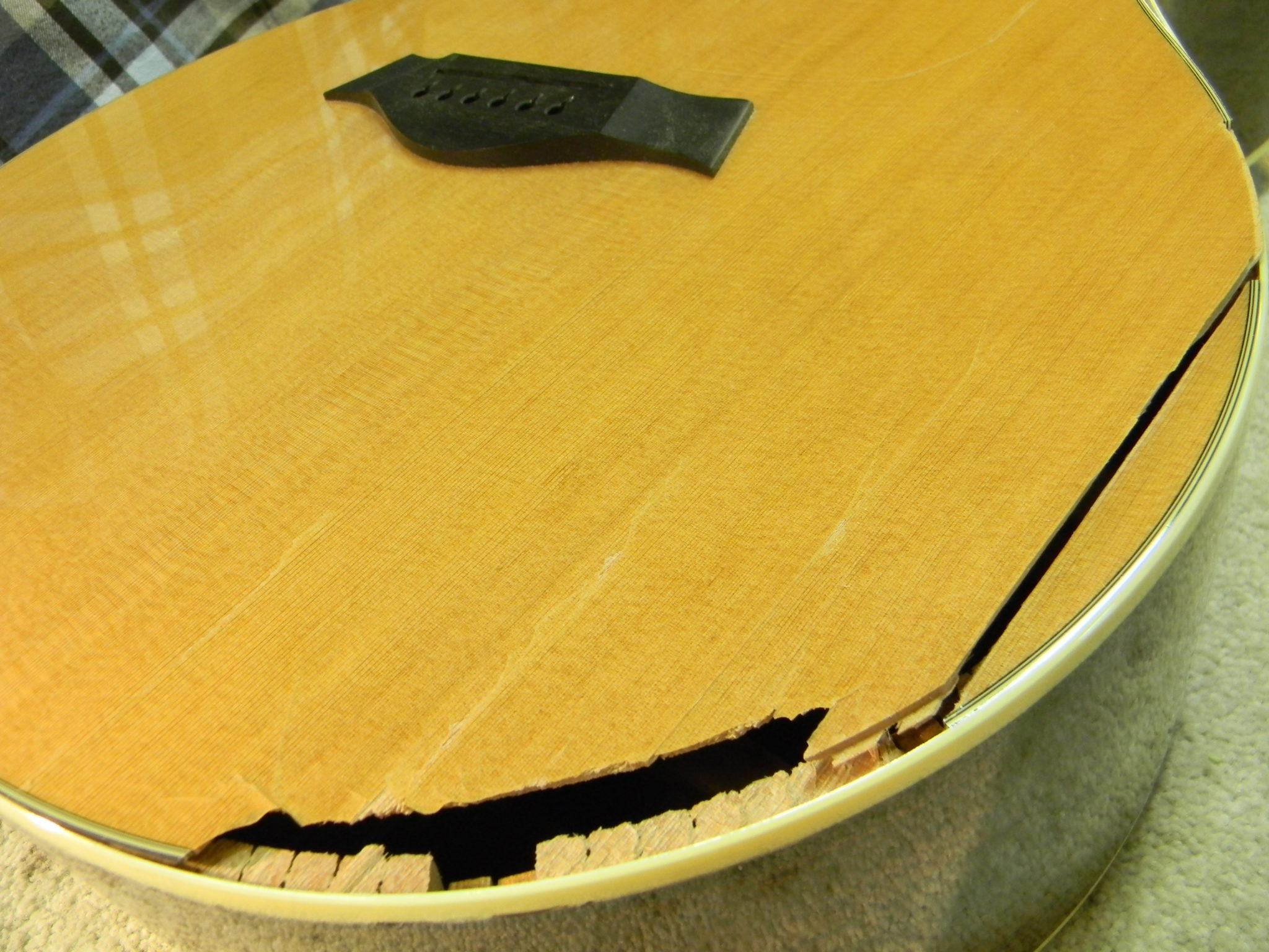 Taylor GS7 Acoustic: Top Repair and Sunburst Refin