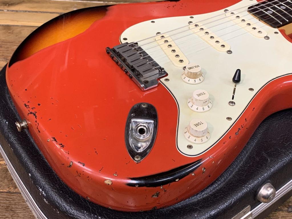 CFW Relic Stratocaster polyurethane overspray